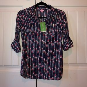 Brand new lily pulitzer button up shirt